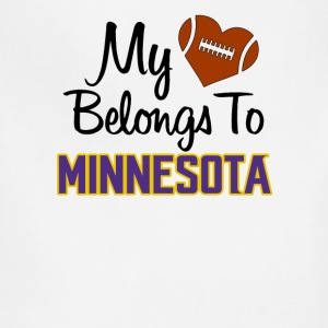 Mi heart belongs to Minnesota - Adjustable Apron