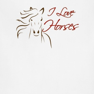 I love Horses - Adjustable Apron