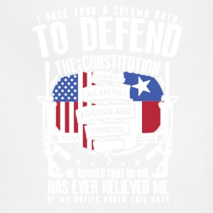 Texas Veteran Oath Shirt - Adjustable Apron
