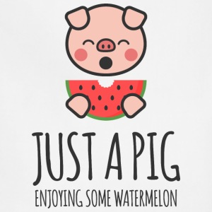 Just A Pig Enjoying Some Watermelon - Adjustable Apron