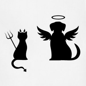 Devilish Cat And Angelic Dog - Adjustable Apron