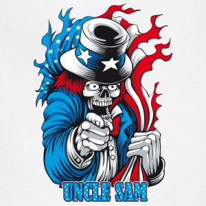 uncle_sam_skull - Adjustable Apron