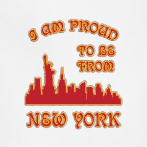 I am proud to be from New york I am proud to be fr - Adjustable Apron