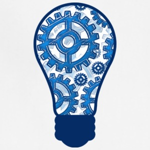 Blue gears light bulb T Shirt - Adjustable Apron