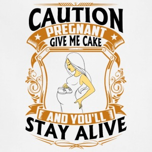 Pregnant - Give me Cake - Adjustable Apron