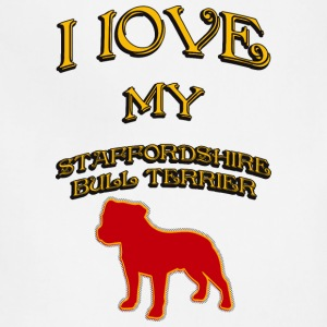 I LOVE MY DOG Staffordshire Bull Terrier - Adjustable Apron