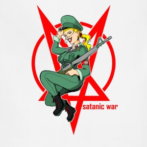 Military style satanic war - Adjustable Apron