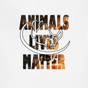 animal lives matter - Adjustable Apron