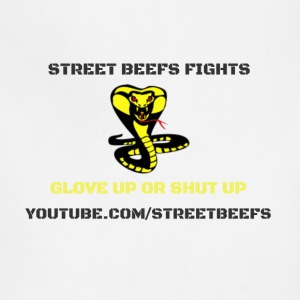 STREET BEEFS FIGHTS LOGO BLACK ON WHITE - Adjustable Apron