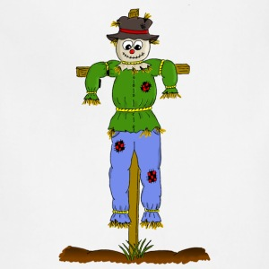 Thanksgiving Turkey Pumpkin Comic Style Scarecrow - Adjustable Apron