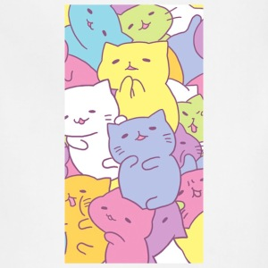 Colorful kitties in bunch - Adjustable Apron