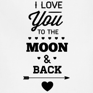 I_love_you_to_the_moon_and_back - Adjustable Apron