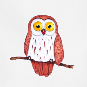 Owl on a branch - Adjustable Apron