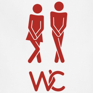Real toilet sign - Adjustable Apron