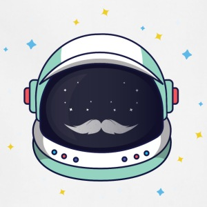 Astronaut Loves Mustache - Adjustable Apron