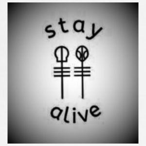 stay alive shirt - Adjustable Apron
