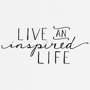 Live an inspired life - Adjustable Apron