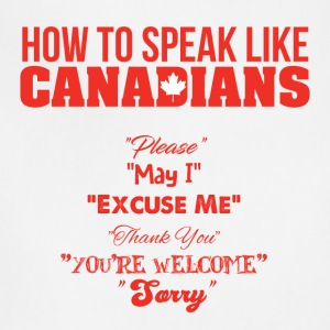 How to Speak Like Canadians - Adjustable Apron