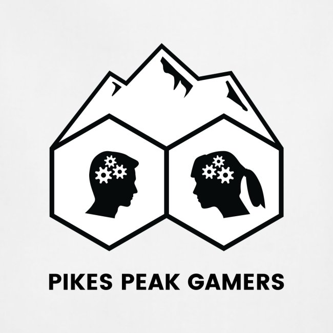 Pikes Peak Gamers Logo (Solid White)
