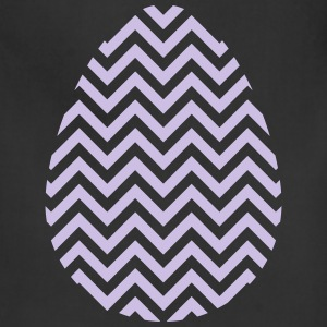 Easter Egg Chevron Purple - Adjustable Apron