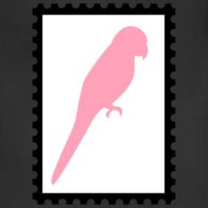 stamp with parrot - Adjustable Apron
