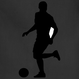 Soccer football player silhouette 9 - Adjustable Apron