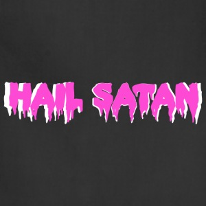 Hail Satan Pink, White Border - Adjustable Apron