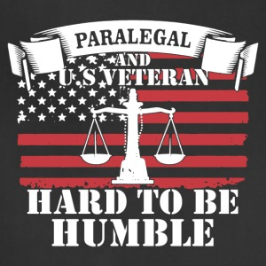 Paralegal And US Veteran Shirt - Adjustable Apron