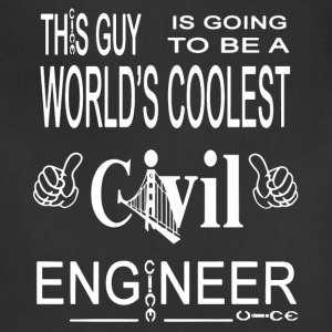 Coolest Civil Engineer Shirt - Adjustable Apron