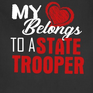 My Heart Belongs To A State Trooper Shirt - Adjustable Apron