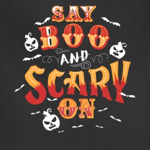 Scary On Halloween T-shirts - Adjustable Apron