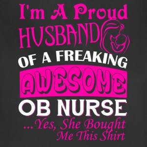 OB Nurse Husband Shirt - Adjustable Apron