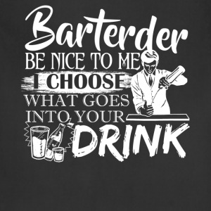 Bartender Tshirt - Adjustable Apron