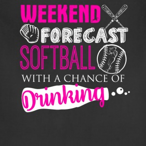 Weekend Forecast Softball Shirt - Adjustable Apron