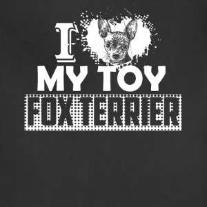 I Love My Toy Fox Terrier Shirt - Adjustable Apron