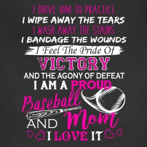 Baseball Mom Pride Shirt - Adjustable Apron