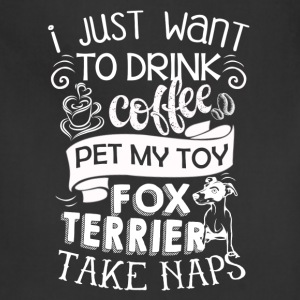 Pet My Toy Fox Terrier Shirt - Adjustable Apron
