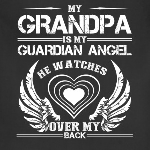 My Grandpa Is My Guardian Angel Shirt - Adjustable Apron