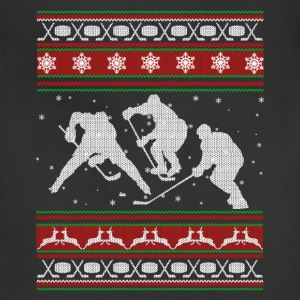 Hockey Shirts - Hockey Christmas Shirt - Adjustable Apron