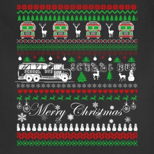 School Bus Driver Christmas Shirts - Adjustable Apron