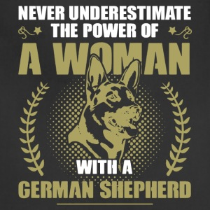 Woman With German Shepherd Shirt - Adjustable Apron