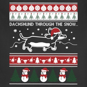Dachshund Ugly Christmas Sweaters - Adjustable Apron