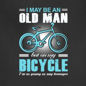 Old Man Bicycle T-shirt - Adjustable Apron
