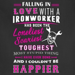 Fall In Love With Ironworker Shirt - Adjustable Apron