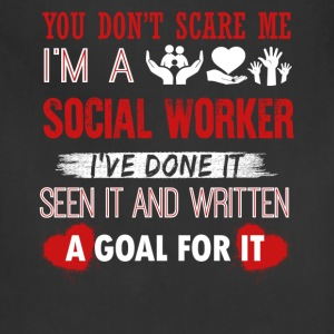 Can't Scare A Social Worker Shirt - Adjustable Apron