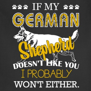 German Shepherd Tshirt - Adjustable Apron