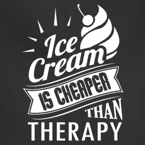 Ice Cream Therapy Shirt - Adjustable Apron
