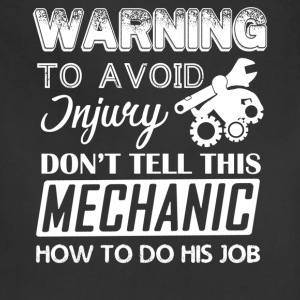 Mechanic Warning Shirt - Adjustable Apron