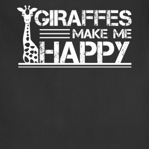 Giraffe Make Me Happy Shirt - Adjustable Apron