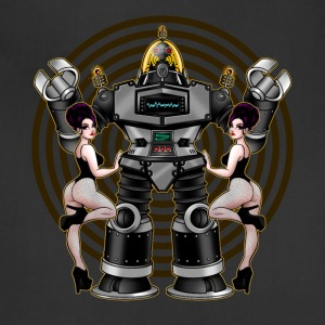 Retro 50's Robot And Fishnet Friends - Adjustable Apron